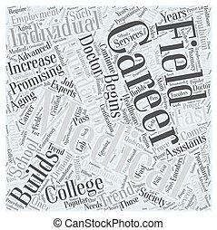 pojęcie, słowo, kariera, medyczny, kolegium, chmura