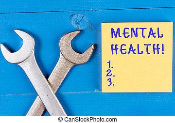 pojęcie, słowo, mentalny, handlowy, poziom, tekst, wellbeing, pisanie, psychologiczny, demonstrating., stan, albo, health.