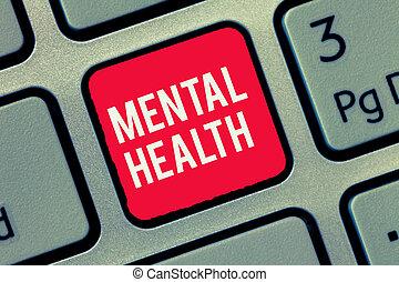 pojęcie, słowo, mentalny, handlowy, tekst, wellbeing, pisanie, psychologiczny, demonstrowanie, emocjonalny, warunek, health.