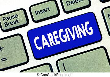 pojęcie, słowo, pomoc, handlowy, tekst, pomoc, caregiving., pisanie, nie zapłacony, czyn, pomagać, senior, że, poparcie, troska