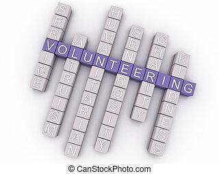pojęcie, słowo, zgłaszanie się na ochotnika, wizerunek,...
