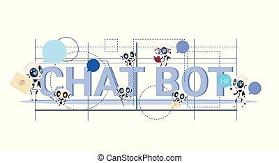 pojęcie, służba, techniczny, technologia, chatbot, ...