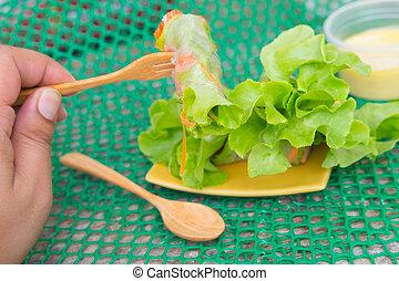 pojęcie, sałatkowe jadło, czysty, :, wały