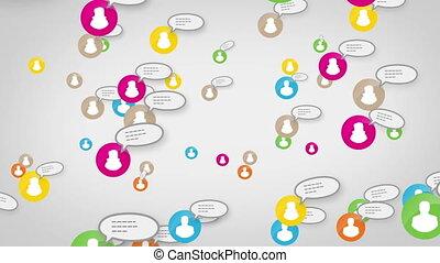 pojęcie, sieć, media, towarzyski, skype, pętla