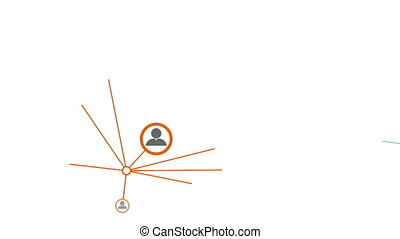pojęcie, sieć, towarzyski