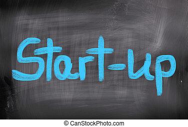 pojęcie, startup