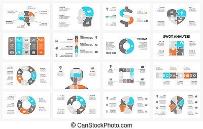 pojęcie, strony, zagadka, 6, idea, mózg, ludzki, sieć, wykres, 4, szablon, 8, steps., prezentacja, głowa, handlowy, opcje, 7, wiedza, diagram, nerwowy, infographic., jigsaw., twarz, chart., 5, wektor, 3