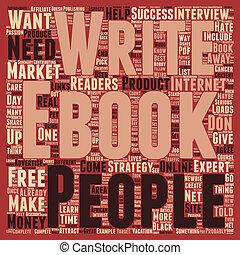 pojęcie, tekst, ebook, zadowolenie, wordcloud, tło, twój, najlepszy