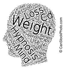 pojęcie, tekst, hipnoterapia, wordcloud, tło, chudy