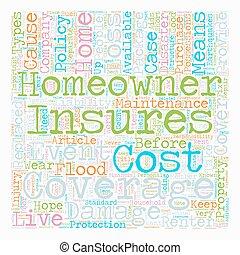 pojęcie, tekst, właściciele domu, wordcloud, tło, ...