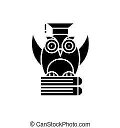 pojęcie, teoria, odizolowany, ilustracja, znak, tło., wektor, czarnoskóry, ikona, symbol