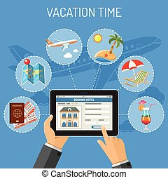 pojęcie, turystyka, urlop