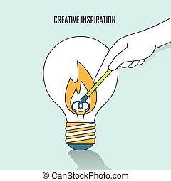 pojęcie, twórczy, natchnienie