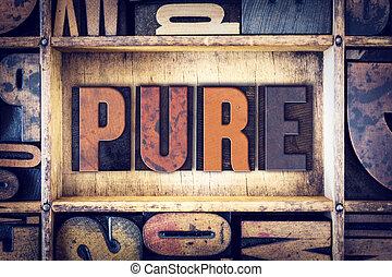 pojęcie, typ, czysty, letterpress