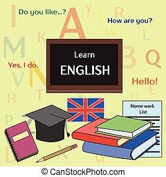 pojęcie, uczyć się, angielski