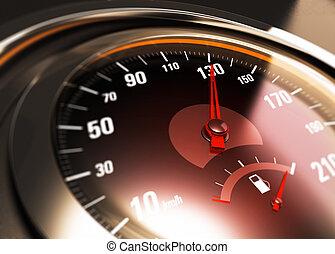 pojęcie, wóz, trzydzieści, na, jeden, 130, km, sto, godzina,...