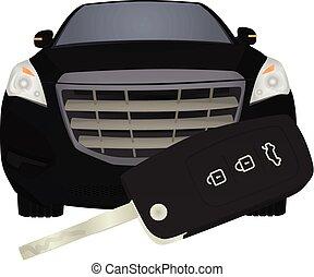pojęcie, wóz, wóz., klucz, przód, kupno