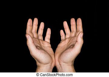 pojęcie, wiara, klucz, odizolowany, modlitwa, zamknięcie, cześć, przeplatany, wierny, palce, tło., czarnoskóry, niski, zakon, spirituality., fałdowy, siła robocza, człowiek, do góry, modlący się, dojrzały, god.
