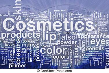 pojęcie, wyroby, kosmetyki, tło