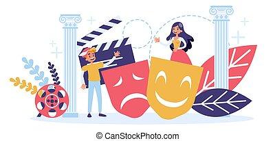 pojęcie, zawód, aktor, teatr, kino