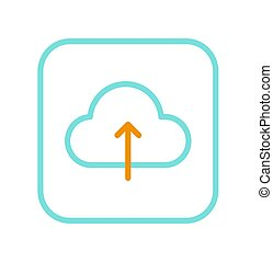 pojęcie, zbawczy, zastosowanie, dane, chmura, ikona