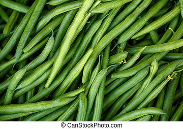 pojęcie, zdrowy, jarskie jadło, fasola, zielony