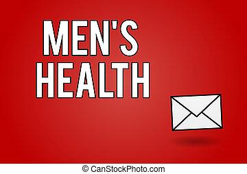 pojęcie, zupełny, tekst, mężczyźni, wellbeing, treść, s, stan, pismo, fizyczny, health., mentalny