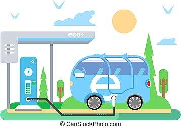 pojazd, ładujący, elektryczny