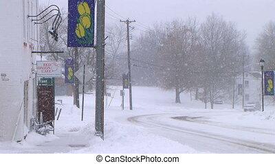 pojazd, napędowy, w, śnieg