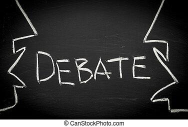 pojem, debatovat