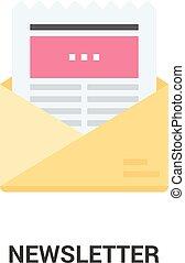 pojem, newsletter, ikona