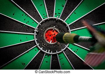 pojem, oko, plán, mělký, dartboard, býci, šlágr, bojiště, hloubka, oštěp