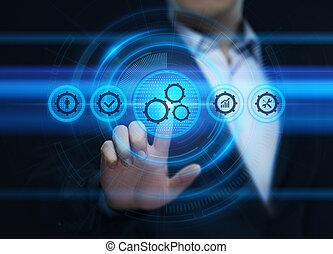pojem, povolání, postup, systém, automatizace, technika, software