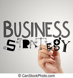 pojem, povolání, rukopis, obchodník, strategie, kreslení