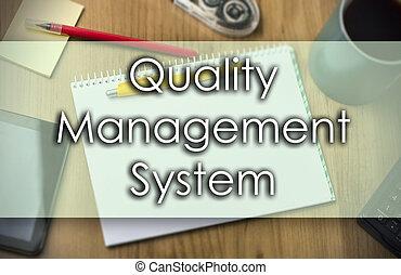pojem, povolání, text, qms, -, systém, management, kvalita