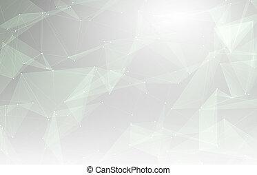 pojem, síť, grafické pozadí., spojený, nodusy, technika