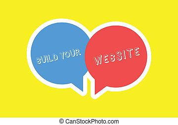 pojem, tvůj, povolání, text, systém, up, význam, sázení, stavět, website., rukopis, ecommerce, obchod