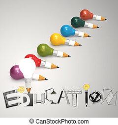 pojem, vzkaz, lehký, rukopis, design, nahý, cibulka, školství, tvořivý, 3