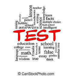 pojem, vzkaz, verzálky, mračno, test, červeň