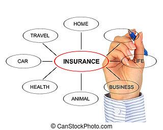 pojištění, concept.