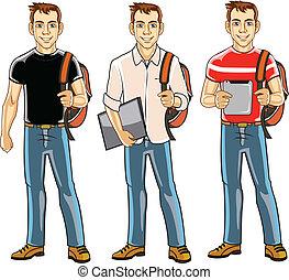 pojke, högskola studerande