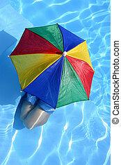 pojke, paraply