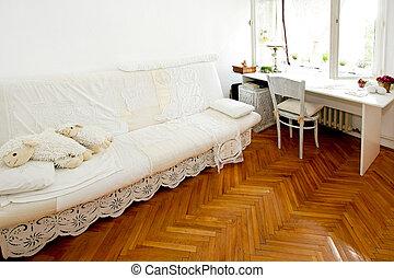 pokój, biały