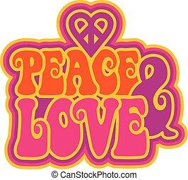 pokój, miłość, &