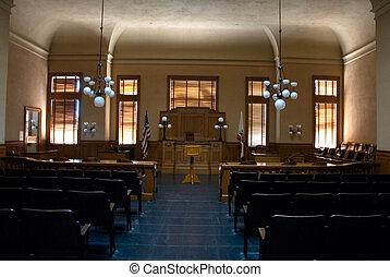 pokój sędziów, opróżniać
