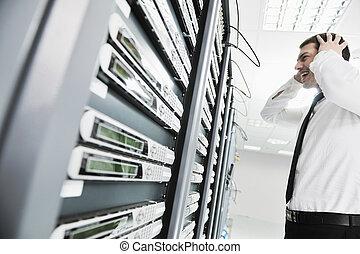 pokój, system, urządzenie obsługujące, bankrutować, sytuacja, sieć