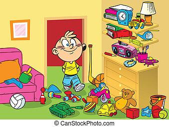 pokój, zabawki