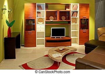 pokój, zielony, żyjący