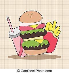 pokarmy, elementy, temat, mocny