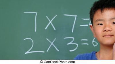 pokaz, asian, prospekt, uczeń, reputacja, klasa, chalkboard,...
